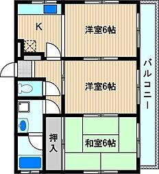 コーポイチホー[2階]の間取り