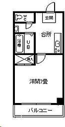 MGコーポ神宮[402号室]の間取り