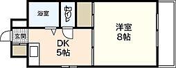 メゾン丸中[4階]の間取り