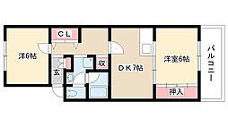 愛知県名古屋市瑞穂区松月町3丁目の賃貸マンションの間取り