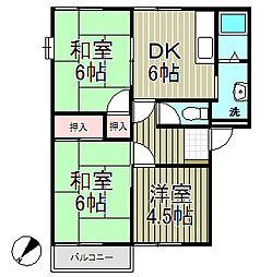 フレグランス飯島B棟[2階]の間取り
