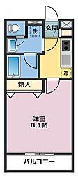 神奈川県横浜市鶴見区本町通4丁目の賃貸アパートの間取り
