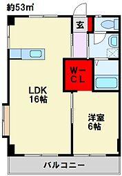 U-Basic port Takashu A棟[206号室]の間取り