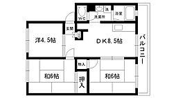 NOTOハイツI[202号室]の間取り