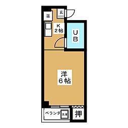 リトル名城[3階]の間取り