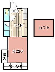 クラブハウス萩原[202号室]の間取り