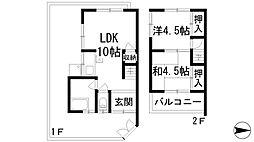 [テラスハウス] 兵庫県宝塚市谷口町 の賃貸【/】の間取り