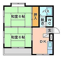 シャトレ小松[305号室]の間取り