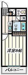 JR埼京線 北与野駅 徒歩17分の賃貸マンション 1階1Kの間取り