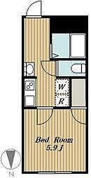 練馬区高松4丁目計画 4階1Kの間取り