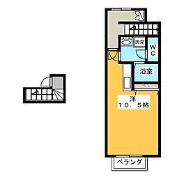 フィアス小網[2階]の間取り