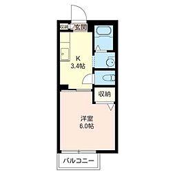 Laputa A[1階]の間取り