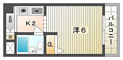エクセレント忍ケ丘[5階]の間取り