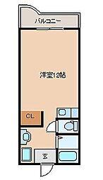 サンケイマンション第9ビル[2階]の間取り