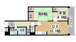 プロスペリテ神戸[103号室]の間取り