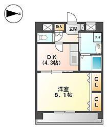 メゾンドゥ城北[2階]の間取り