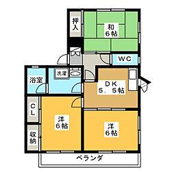 アーバンハイツ95 A・B[1階]の間取り