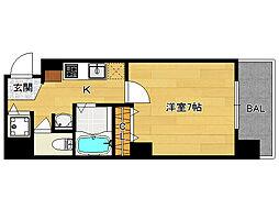 分譲プレサンス京都三条響洛[201号室]の間取り