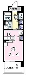 栃木県宇都宮市今泉町の賃貸マンションの間取り