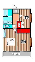 メゾンセレステ[4階]の間取り