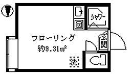 フェリスアザール[1階]の間取り