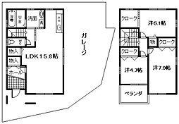 [一戸建] 大阪府貝塚市近木町 の賃貸【/】の間取り