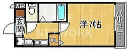 KDXレジデンス西院[902号室号室]の間取り