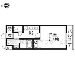 ベラジオ京都壬生WEST GATE106[1階]の間取り