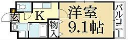 京都府京都市北区上賀茂松本町の賃貸マンションの間取り