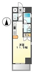 サムティ東別院レジデンス(旧クレグラン東別院)[7階]の間取り