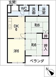 寿第三ビル[2階]の間取り