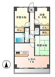 覚王山センタービル[8階]の間取り