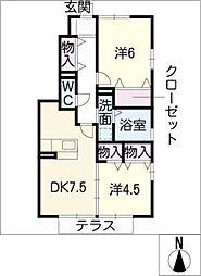 リビングタウン鵜沼C棟[1階]の間取り