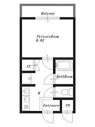 パルコートM[4階]の間取り