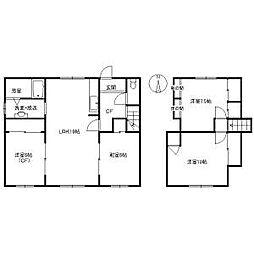[一戸建] 北海道札幌市南区藤野五条9丁目 の賃貸【/】の間取り