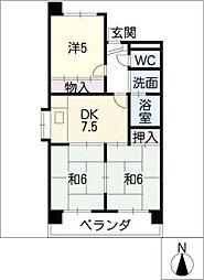 第2サンヨーマンション[2階]の間取り