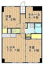 WITH PLACE MORISAKI[7階]の間取り