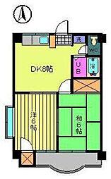 木山ビル[501 号室号室]の間取り