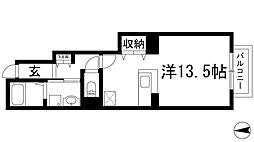 兵庫県伊丹市鋳物師4丁目の賃貸マンションの間取り
