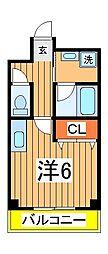 興亜第3マンション[105号室]の間取り