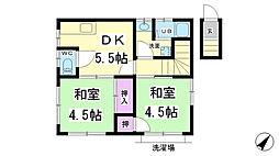 兵庫県神戸市長田区三番町1丁目の賃貸アパートの間取り