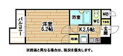 ギャラン黒崎[4階]の間取り