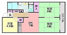 グリーンマンション・ザ・スクエア[1506号室]の間取り