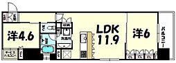 リーガル神戸三宮フラワーロード[8階]の間取り