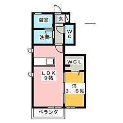 (仮)D-room松富[1階]の間取り