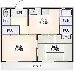 小川アパート[102号室]の間取り
