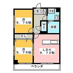 ベラヴィスタ神田[2階]の間取り