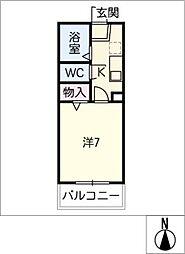 ディアコートN[1階]の間取り