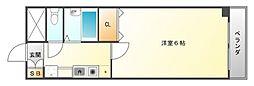 コンチェルト豊津[3階]の間取り