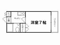 ロイヤルコーポ紫野1[3階]の間取り